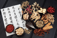 Chinese Writing and Herbs