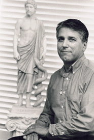 Young Picture of Michael Tierra by Statue