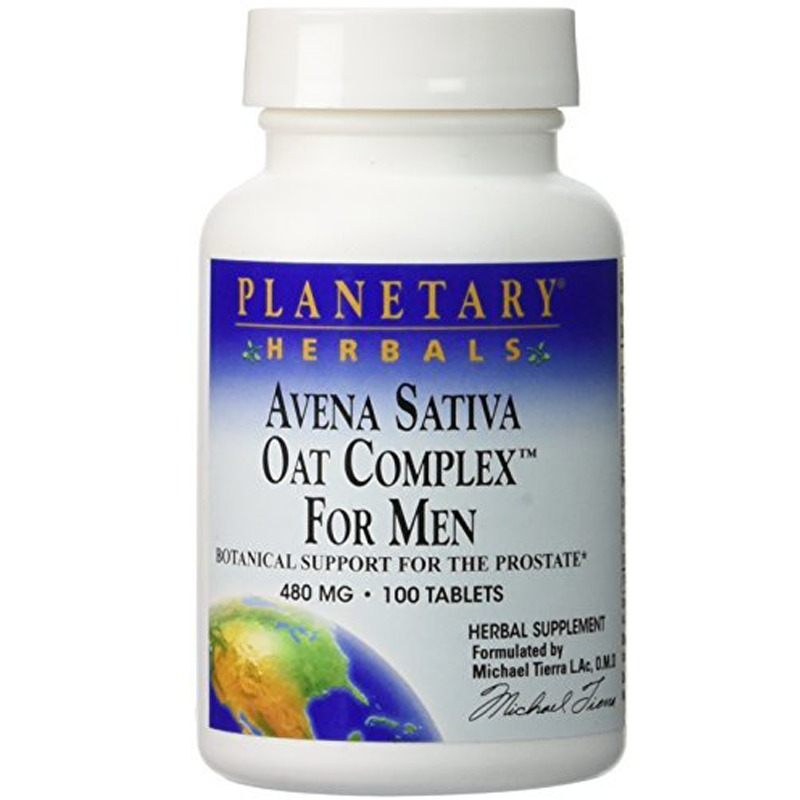 Planetary Herbals Avena Sativa Oat Complex for Men, 480mg 100 Tablets