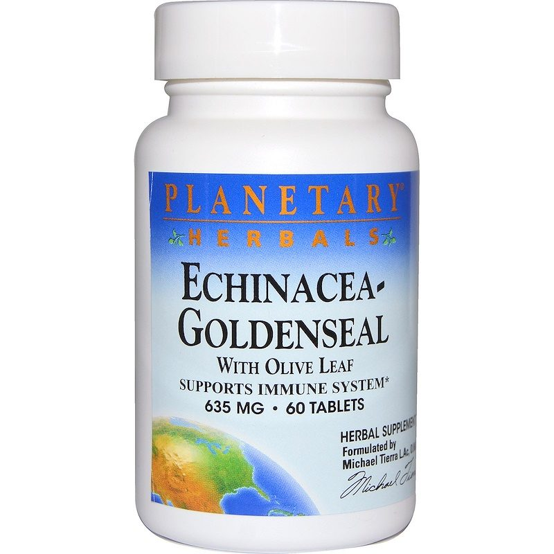 Echinacea-Goldenseal with Olive Leaf 635mg 60 Tablets