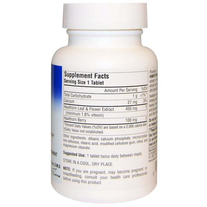 Hawthorn Extract Full Spectrum 550mg 60 Tablets Supplement Facts