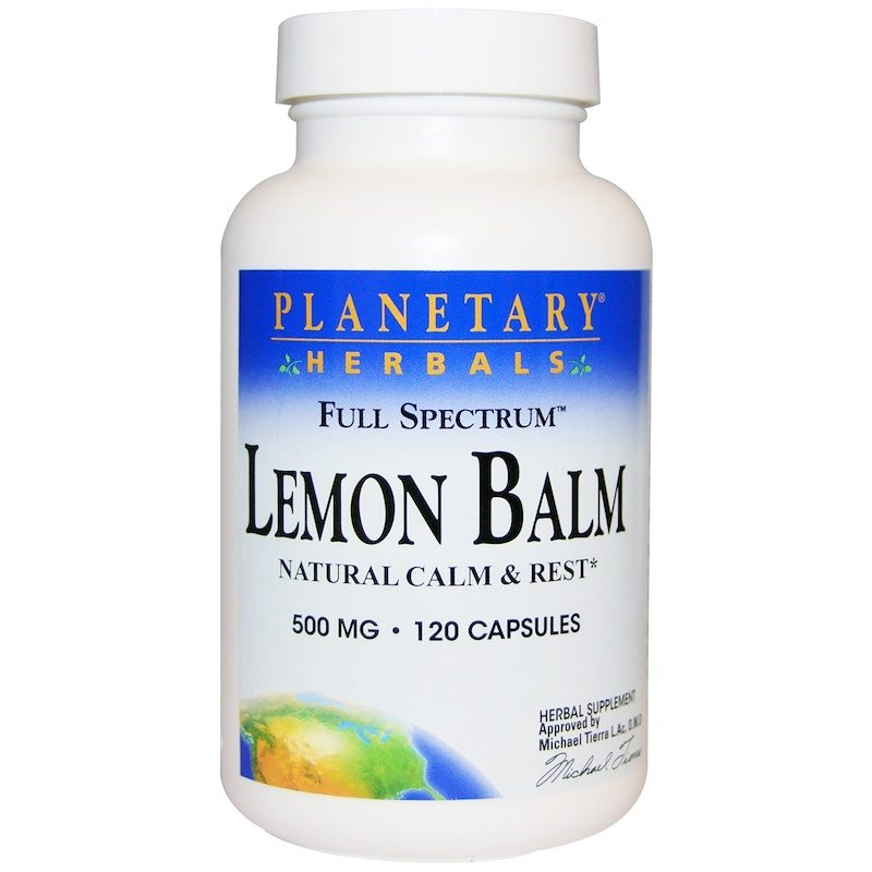 Lemon Balm 500mg 120 Capsules