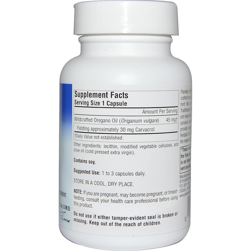 Oil of Oregano 70 Percent 60 Capsules Supplement Facts