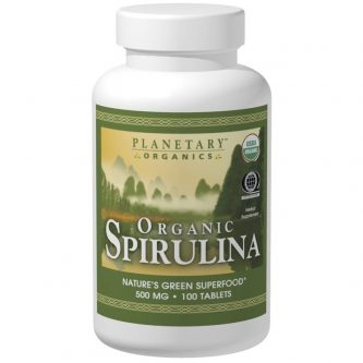 Organic Spirulina 500mg 100 Tablets