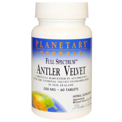 Antler Velvet Full Spectrum Carefully Harvested in Accordance with the National Velvet Standards Body in New Zealand 250 MG 60 Tablets