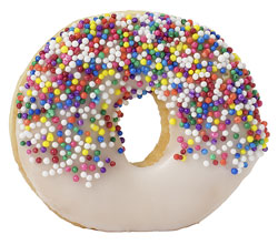 A frosted donut